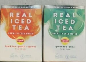 6 Boxes Lipton Real Sugar Free Iced Tea Cold Water Infuser mixed flavours