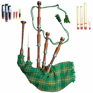 Great Highland Bagpipe Silver Mounts Natural Polished Rosewood Republic Ireland