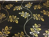 SUPER LUXURIOUS BLACK GOLD JACQUARD FABRIC 1.6 METRES