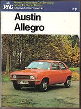 Austin Allegro 1100 1300 1500 1750 Pearson's Illustrated Car Servicing Book