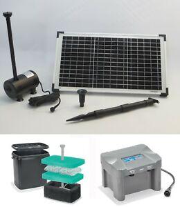 Solar Tauch Solarpumpe Akku Bachlauf Pumpe Batterie Teich Filter Gartenteich 20W