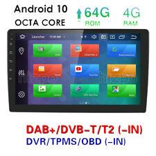 "Octa-Core Android 10 4GB RAM 10.1"" IPS Car Stereo Radio GPS Navi DAB+ OBD2 DSP"