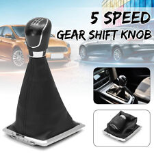 5 Speed Gear Shift Stick Shifter Knob & Gaiter Boot Cover For Ford Focus MK2 ~