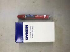 Dykem 44106 Rinz Off 44 Red Broad Tip Temporary Ink Marker Pen 12pk
