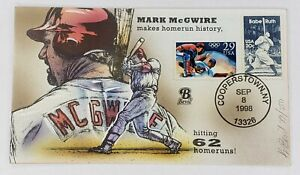 Mark McGwire makes Homerun History HP Bevil Cachet Event Day Cover 8/8/1998