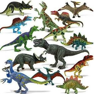 """Joyin Toy 18Piece 6"""" to 9"""" Educational Realistic Dinosaur Figures with Movable"""