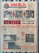 1965 EUROPEAN CUP FINAL Inter Milan v Benfica (RARE 'A BOLA' PORTUGUESE ISSUE)