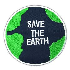 Save The Earth Love Logo Embroidered Iron On Patch Hippie Tactical Rubber Nature