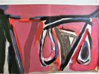 BRAM VAN VELDE - THE MUST ABSTRACTION - ORIGINAL LITHOGRAPH 1982 - FREE SHIP US