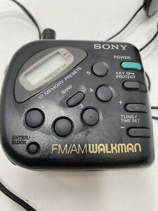 Sony SRF-M32 FM/AM Portable Radio Walkman Digital Tuner w Belt Clip Tested Works