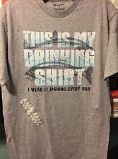 Fishing/Drinking Shirt - Mens Medium - Gray