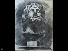 Original large charcoal drawing-65x50cm Ancient mythology Helios- God of sun  4