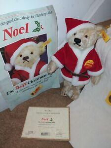STEIFF NOEL FATHER CHRISMAS MOHAIR TEDDY BEAR SOFT TOY 654688  CERTIFICATE 0061