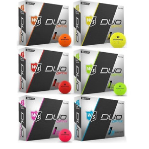 Wilson Staff Duo Optix Golf Ball Various Colours In Matte One Dozen Pack New