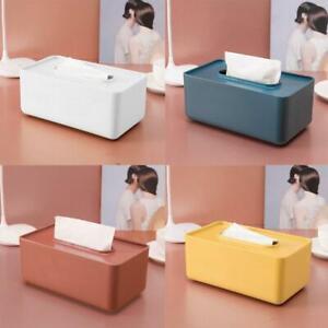 1x Plastic Tissue Box Wet Tissue Holder Storage Box Paper Towel Home Organizer