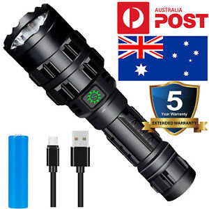 2021 New 90000lm P50 Rechargeable 18650 Tactical Cob P50 Led Flashlight Torch