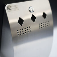 Curved Front, Wall Mounted Stainless Steel (NO RUST) Cigarette Bin