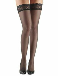 Commando Up All Night Sheer Thigh Highs Hosiery HTH06 black M/L New in box