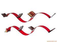 Libreria/mensola flessibile colore rosso mod. Flexa di Emporium set di 3 mensole