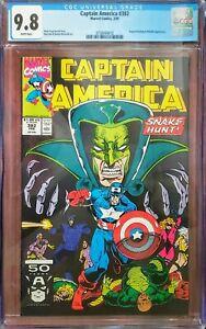 Captain America 382 CGC 9.8 Marvel 1991
