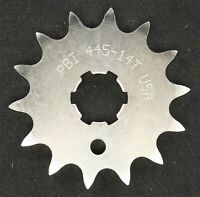 PBI - 445-14 -  Front Countershaft Sprocket, 14T - Made In USA