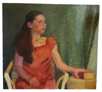 Stunning Portrait Oil  Painting by Linda Kolar