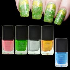5pcs/set Nail Art Stamp Polish Gold Silver Pink Green Nail Palisade Latex Kit