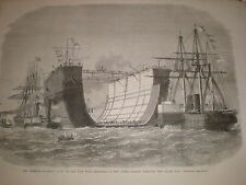Bermuda floating dock en route Sheerness to the Downs 1869 print