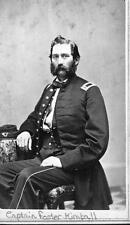 Photo. ca 1864. Civil War.  Soldier - Captain F. Kimball