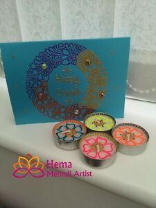 Happy Diwali Tealight & Card Gift Set