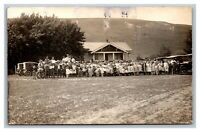 1923 Hay Picnic, Hays, KS Kansas ? RPPC Real Photo Postcard Divided Back