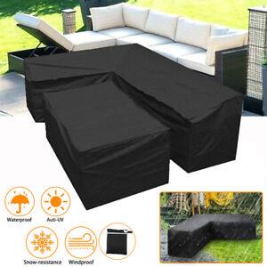 Sofa Abdeckung Lounge Set L Form Gartenmöbel Schutzhülle Regenschutz Abdeckhaube