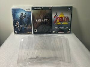 5 Box Protectors for PS1, Wii, & Game Cube Video Games. Clear Display Cases