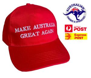 Make Australia Great Again Hat MAGA Cap 2020 Aussie America AUS ANZAC Trump
