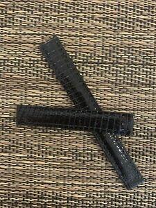 Cartier Watch Strap Thin Shiny Black Lizard Leather 12/11  98/65 France OEM