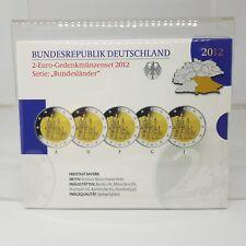 ALEMANIA 5 X 2 EUROS 2012 - BAYERN - PROOF - EN CARTERA