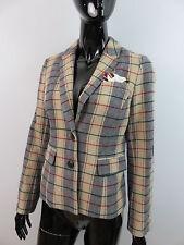Ambiente Jacke Ausgefallener Blazer Muster-&Materialmix Gr.38 Mit Wolle Wie neu