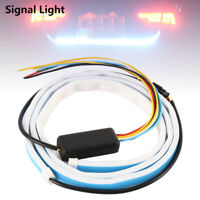 120cm RGB LED Strip Car Trunk Rear Tail Lights Brake Turn Signal Flow Lamp 12V