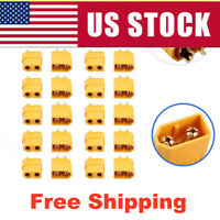 HOT 10 PCS XT60 Male & Female Gold Plated Bullet Connectors RC Lipo Power Plug