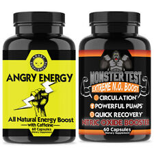 Supplement Booster & Caffeine Angry Energy + Monster Test Nitric Oxide2-Pk