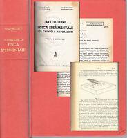 FISICA Sperimentale Disegno Antico 1958 Ottica Elettricità Magnetismo
