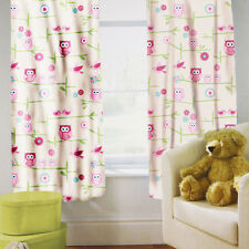 "Owls Children's Kids Curtains 66"" by 54"" + Tiebacks Nursery Bedding Blinds"