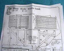On3/On30 WISEMAN MODEL SERVICES WEST SIDE LUMBER CO. WATER TANK KIT V&T SHOPS