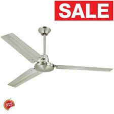 Commercial Ceiling Fan Industrial Modern Garage Shop Work Home Steel Heavy Duty