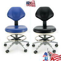 USA Dental Rotation Mobile Chair Adjustable 360° Stool Dentist Chair PU Leather