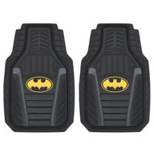 Batman Armored All-Weather Rubber Car Floor Mats Durable Black Front Set 2PC