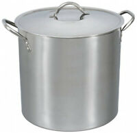 16-Quart Stock Pot Stainless Steel Metal Lid Cooking Kitchen Soup Stew Pasta New