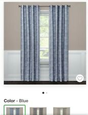 "Blackout Curtain Panel  Color: Modern Stroke Blue 63"" x 50"" - Project 62"