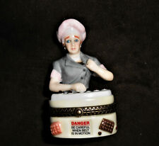"""I Love Lucy Hinged Trinket Box Chocolate Factory Stands 3"""" high and 1 3/4"""" wide"""