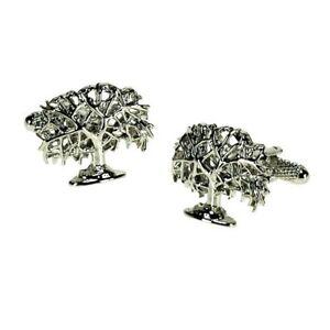 Oak Tree Cufflinks by Onyx Art - Gift Boxed - Forester Arborist Ladies Cuff Link